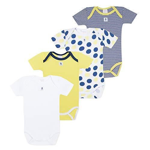 Absorba 6N60336-RA73BODY Body, Amarillo (Bright Yellow 73), 0-3 Meses (Talla del Fabricante: 3M) (Pack de 4 para Bebés