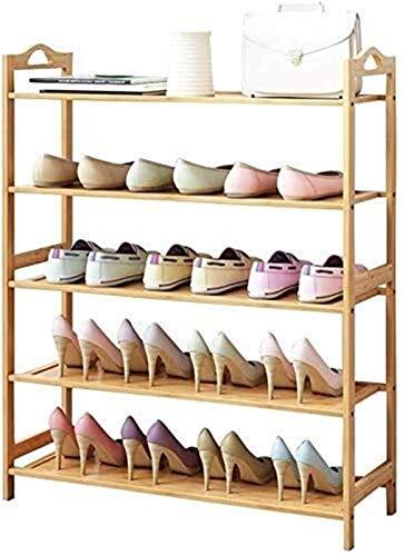 QZMX Estante de Zapatos Zapatero Bench 5 Nivel de Madera Natural, Organizador for los estantes del Cuarto de baño, Estante de Madera for Muebles Grandes Estante (Color : 5 Tier, Size : 50Cm)