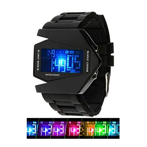 Kinder Sports Digital Uhren für Jungen, 5 ATM Wasserdicht Outdoor Sport Uhr mit Alarm/LED-Licht/Datum/Stoppuhr, Elektronische Armbanduhr für Junior Jugendliche Kinder Jungen (schwarz)