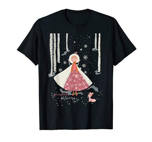 Copo de nieve Princesa Fawn Navidad Vacaciones Temporada de Camiseta