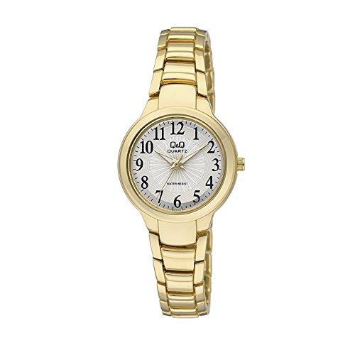 Q&Q Analógico de cuarzo F499J014Y reloj de señoras - Oro