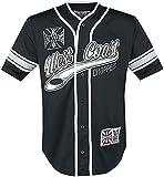 West Coast Choppers 30 Years Anniversary Limited Baseball Hombre Camisa Manga Corta Negro-Blanco L
