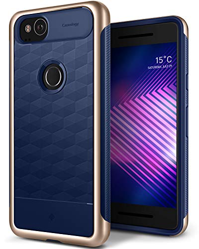 Caseology Parallax for Google Pixel 2 Case (2017) - Award Winning Design - Navy Blue