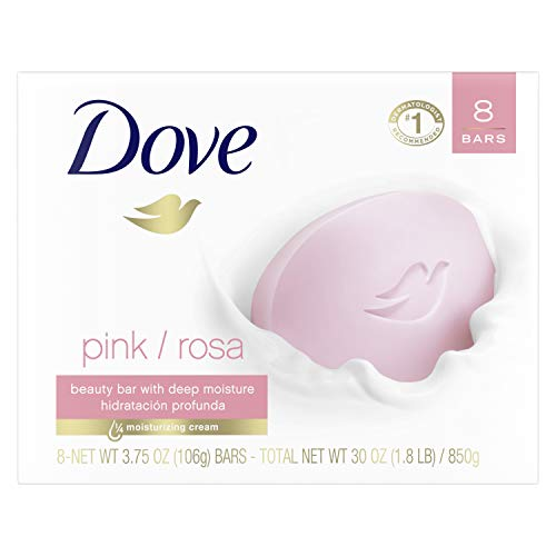 Dove Beauty Bar for Softer Skin Pink More Moisturizing than Bar Soap 3.75 oz 8 Bars