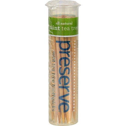 Preserve, Toothpicks Mint Tea Tree, 35 Count