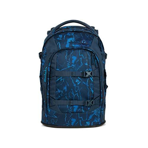 satch Pack Blue Compass, ergonomischer Schulrucksack, 30 Liter, Organisationstalent, Blau