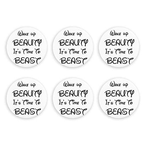 GodYo Wake Up Beauty It 's Time to Beast Imanes de refrigerador...