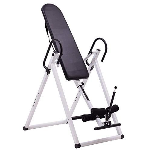 Ajuste Flexible Tabla de inversión Terapia Volver equipo de la aptitud con reflexología Comfort Respaldo inversión de la máquina Máquina Invertida para Fitness ( Color : Black , Size : 74x114x156CM ) 🔥
