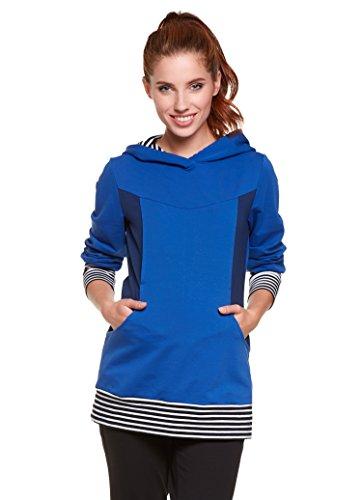 Be! Mama - 2in1 Umstandspullover, Sweatshirt, Still-Pulli, hochwertige Baumwolle, Modell: Tosca, blau L