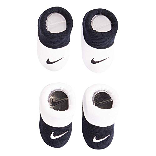 Nike Infant Baby Futura Booties (2 Pair) (Black(LN0051-695)/White/Black, 0-6 Months)
