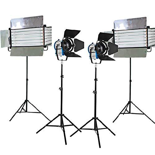 Kit 2x1000W Fresnel de tungsteno luces 2xFluorescent 6 bancaria con el tubo fluorescente final reflejado Flickr OSRAM OSRAM libre tubo de luz de lastre estudio de cine en casa Flickr