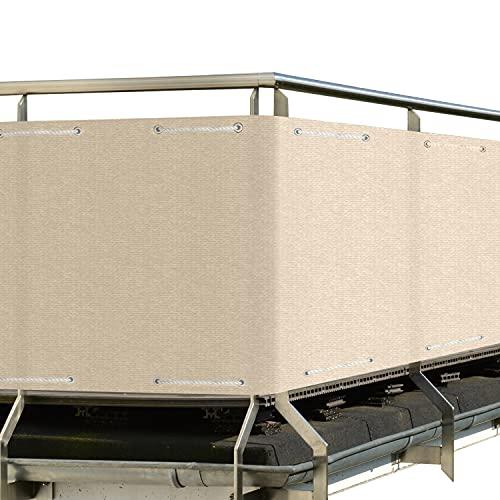 Sol Royal Frangivista e Telo frangivento per balconi SolVision HB2 90x500 cm Isolante - con Occhielli - Avorio