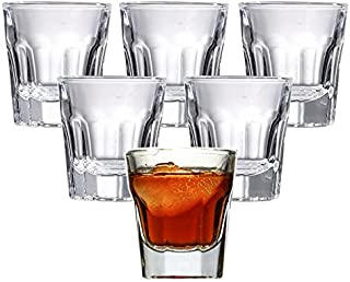 Classic Shot Glasses with Heavy Base| Pack of 6 | 1.2oz-36ml | Food Grade Glass Material