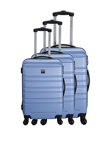 FRANCE BAG Set de 3 Valises Rigide ABS 4 Roues 55-65-70cm Lavande