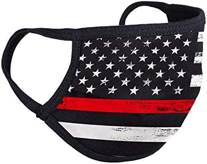Thin Redline Firefighter Face Mask Made in The USA Fireman Facemask American Flag Masks Machine product image