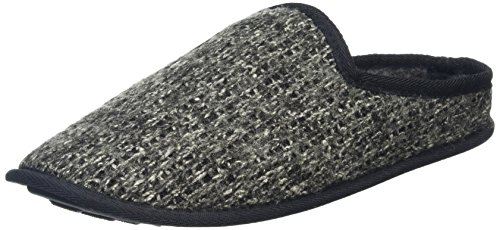 New Look Knitted Slipper, Zapatillas de Estar por casa para Hombre, Gris (Dark Grey), 43...