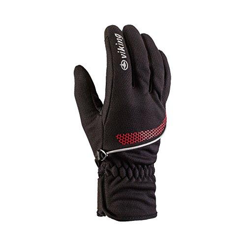 Viking Gants Homme et Femme – Multifonction avec windlocker Membrane – Idéal pour de Ski de Fond, Cyclisme, la randonnée, Patinage – Shiro 8 Noir/Rouge