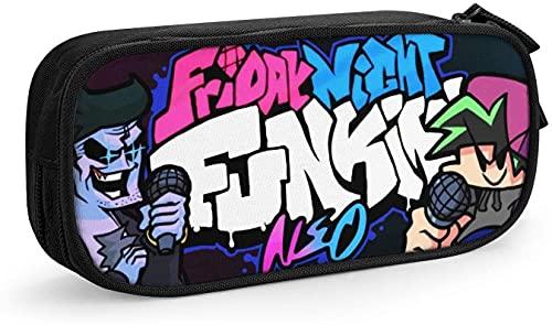 HESMENO Estuche de lápices con capacidad para bolígrafo de Friday Night Funkin, estuche para cosméticos, tela Oxford, gran capacidad