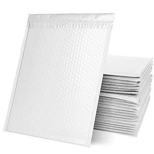 """25PCS 10.5x15"""" Poly Bubble Mailers Padded Envelopes Bubble Lined, Padded Bubble Mailers, Self Seal Shipping Bags for Shipping and Packaging, Offwhite"""