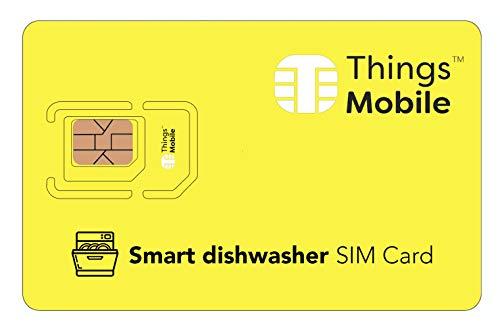 IOT/M2M-SIM-Karte für SMARTEN GESCHIRRSPÜLER / SMART DISHWASHER - Things Mobile - Things Mobile - weltweite Netzabdeckung, Mehrfachanbieternetz GSM/2G/3G/4G, ohne Fixkosten. 10 € Guthaben inklusive