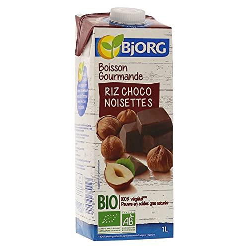 Bjorg Boisson Riz Choco Noisettes – Boisson végétale Bio – 1 L - Lot de 2