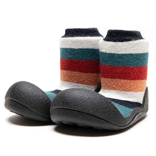 Attipas-Zapatos Primeros Pasos-Modelo New Rainbow (19 EU, Negro)