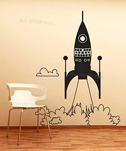 Geiqianjiumai Raket Art Start muursticker kinderkamer creatieve decoratie kinderkamer kleuterschool sticker