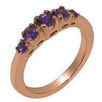 英国製(イギリス製) K9 ピンクゴールド 天然 アメジスト レディース リング 指輪 各種 サイズ あり