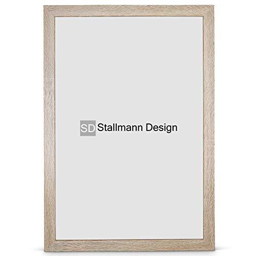Stallmann Design New Modern Cadre photo en bois MDF 10 x 15 cm Blanc Disponible en A4 et 60 autres formats Différentes couleurs au choix Cadre pour photos et affiches, Bois, Chêne sonoma, 30 x 45 cm