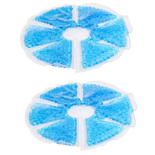 2pcs Soft Breast Therapy Gel Breast Ice Pack - Almohadilla de Gel para Lactancia en Frío Caliente