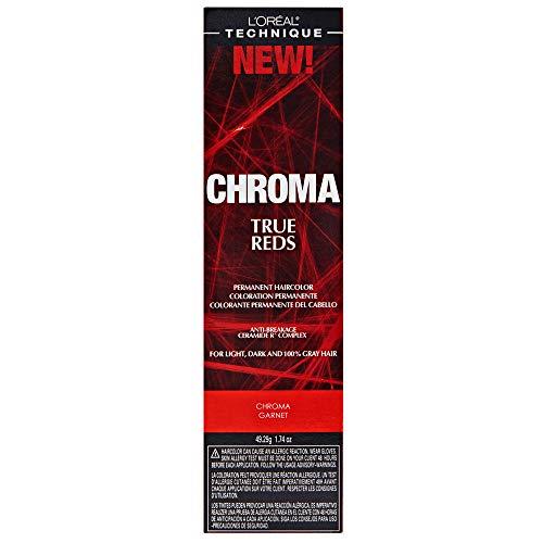 L'oreal Paris Chroma True Reds Hair Color, Chroma Garnet, 1.74 Ounce