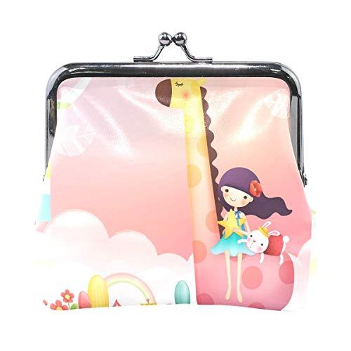 Muster Kiss-Lock Mädchen in einem Spielhaus niedlichen Geldbörse Geldbörse tragbare Clutch Bag