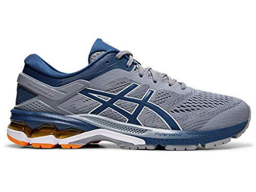 ASICS Men's Gel-Kayano 26 Running Shoes, 10.5M, Sheet Rock/MAKO Blue