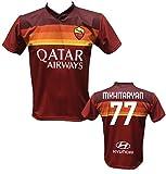 DND di D'Andolfo Ciro Maglia Calcio Mkhitaryan 77 Roma Replica autorizzata 2020-2021 Taglie da Bambini e Adulti (M (Adulto))