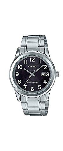 Casio MTP-VS01D-1B2 - Reloj de pulsera para hombre (acero inoxidable, funciona con energía solar)
