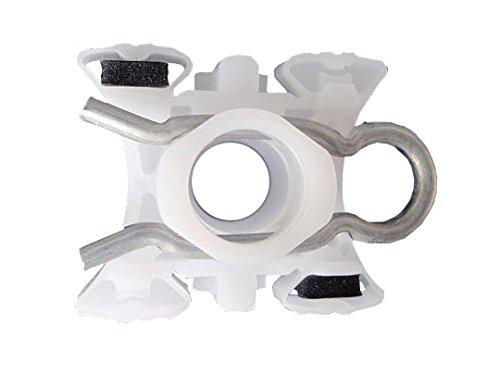 myshopx Kit de reparación de elevalunas C28, para puerta corredera, tirador de cuerda, pieza deslizante, elevalunas, juego de reparación con clip para elevalunas, rodillo y polea