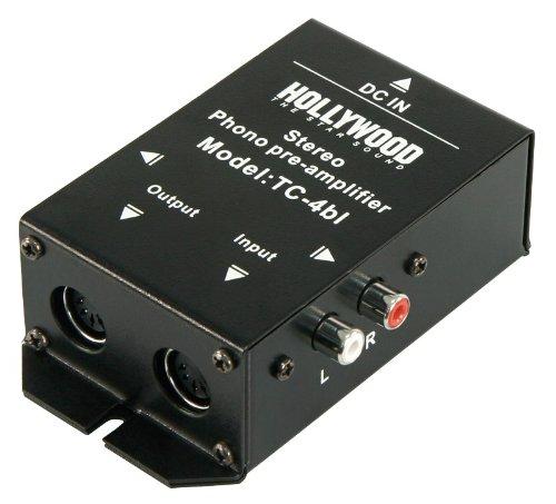 Profi-Line Phono-Verstärker Hollywood TC-4bl, schwarz, Stereo, Anschl. Cinch o.5-Pol DIN