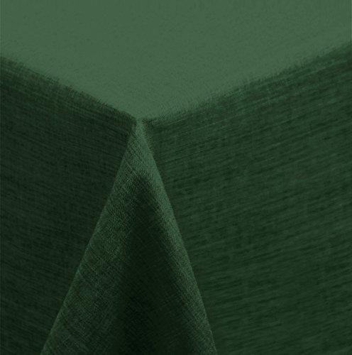 Tischdecke 90x90 cm grün dunkel Mitteldecke eckig Struktur Leinenoptik beschichtet Wasser und Schmutz abweisend Lotuseffekt