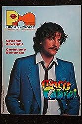 Paroles & Musique 1984 04 n° 39 FRANCIS CABREL GRAEME ALLWRIGHT CHRISTIANE STEFANSKI - 44 pages