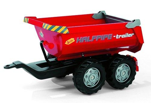 rolly toys | rollyHalfpipe Trailer rot | Großer Kippanhänger für rolly toys Traktoren | 122172