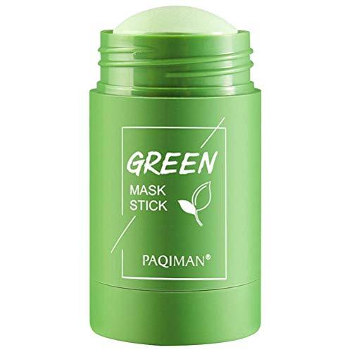 KKPLZZ Mascarilla de té Verde/Berenjena, Mascarilla limpiadora de té Verde Mascarilla de Arcilla purificadora Mascarilla hidratante Control de Aceite Mascarilla sólida para Todo Tipo de Piel