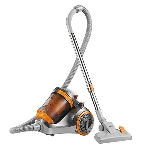 VonHaus 1200W Cyclonic Bagless 3L Cylinder HEPA Filtration Vacuum Cleaner with Turbo Brush, 5m Cord...