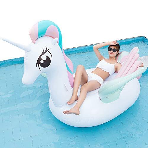 Pegasus, zwemring, opblaasbaar, voor volwassenen, met compressor, 12 V