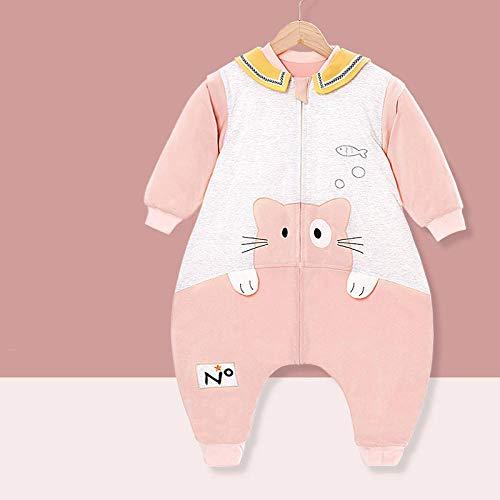 B/H Baby-Schlafsack atmungsaktiv waschbar,Dünner Baumwoll-Babyschlafsack für Frühling und Herbst,multifunktionaler Schlafanzug für Kinder-Cartoons-C_80,Baby-Schlafsack Strampelsack