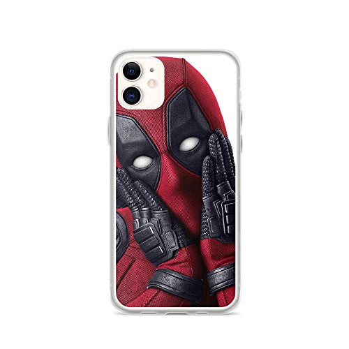 TEEMT Compatible with iPhone 11 Case Deadpool Wade Funny Humor Pure Clear Phone Cases Cover