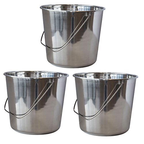 SSB422SET Large Stainless Steel Bucket Set – 3Piece