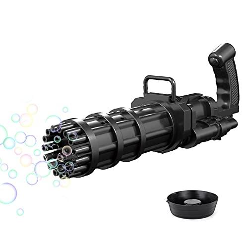 Gatling Modelo 15hole Enorme Cantidad Automática Bubble Maker - Bandejas De Burbujas Bandeja Líquida Y Burbujas - Nuevos Juguetes Al Aire Libre Para Niños Y Niñas