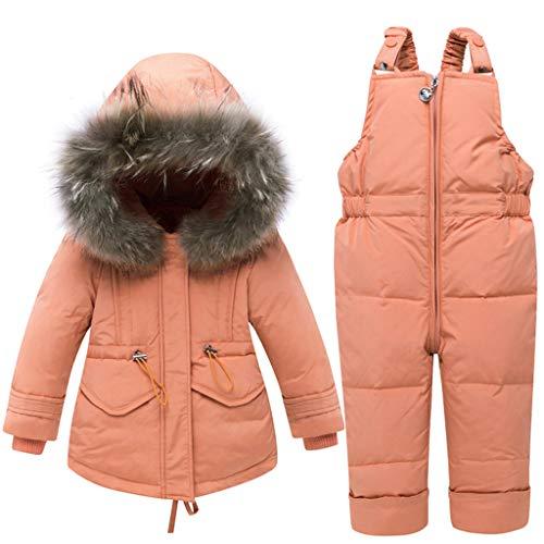 Trajes de Esquí para Niños Niñas Invierno Abajo Chaqueta con Capucha + Pantalones de...