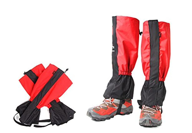 クローゼットショップパキスタン人OSOGODE(オソグド)登山スパッツ 登山ゲイター ロングスパッツ 防水 泥除け ?ゲイター 登山 トレッキング 泥はね防止 雨よけ 雪よけ 防水 雨 悪天候の日に 男女兼用