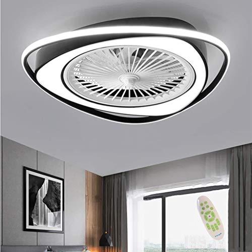 Ventilador Luz De Techo LED Ventilador Con Iluminación Control Remoto Silencioso Regulable Moderno Del Viento Ajustable Dormitorio Sala Estar Habitación Infantil Luces Colgantes Lámpara Candelabro,A